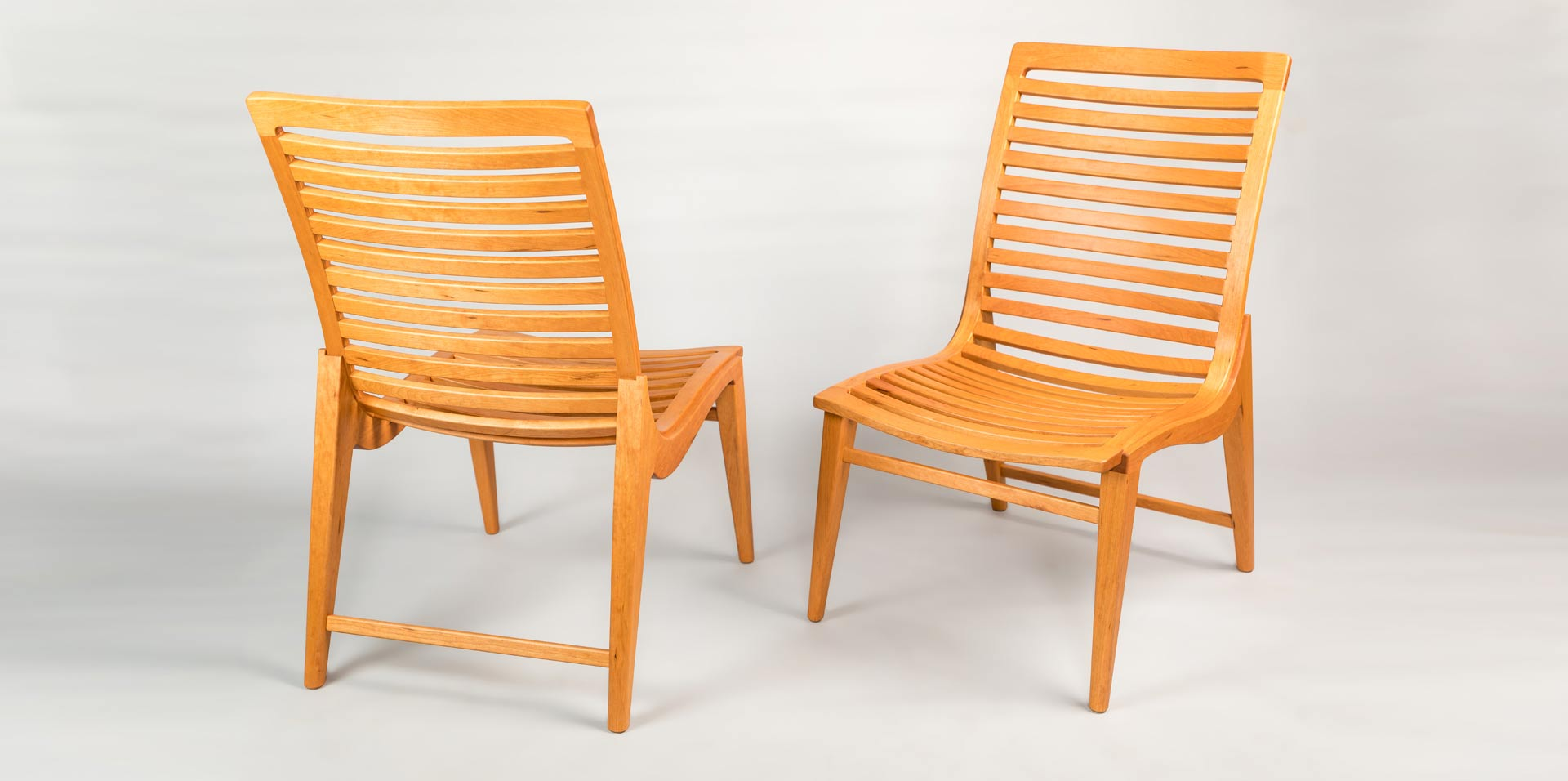 Excelsior Dinning Chairs - Cherry Wood - Doug King Design