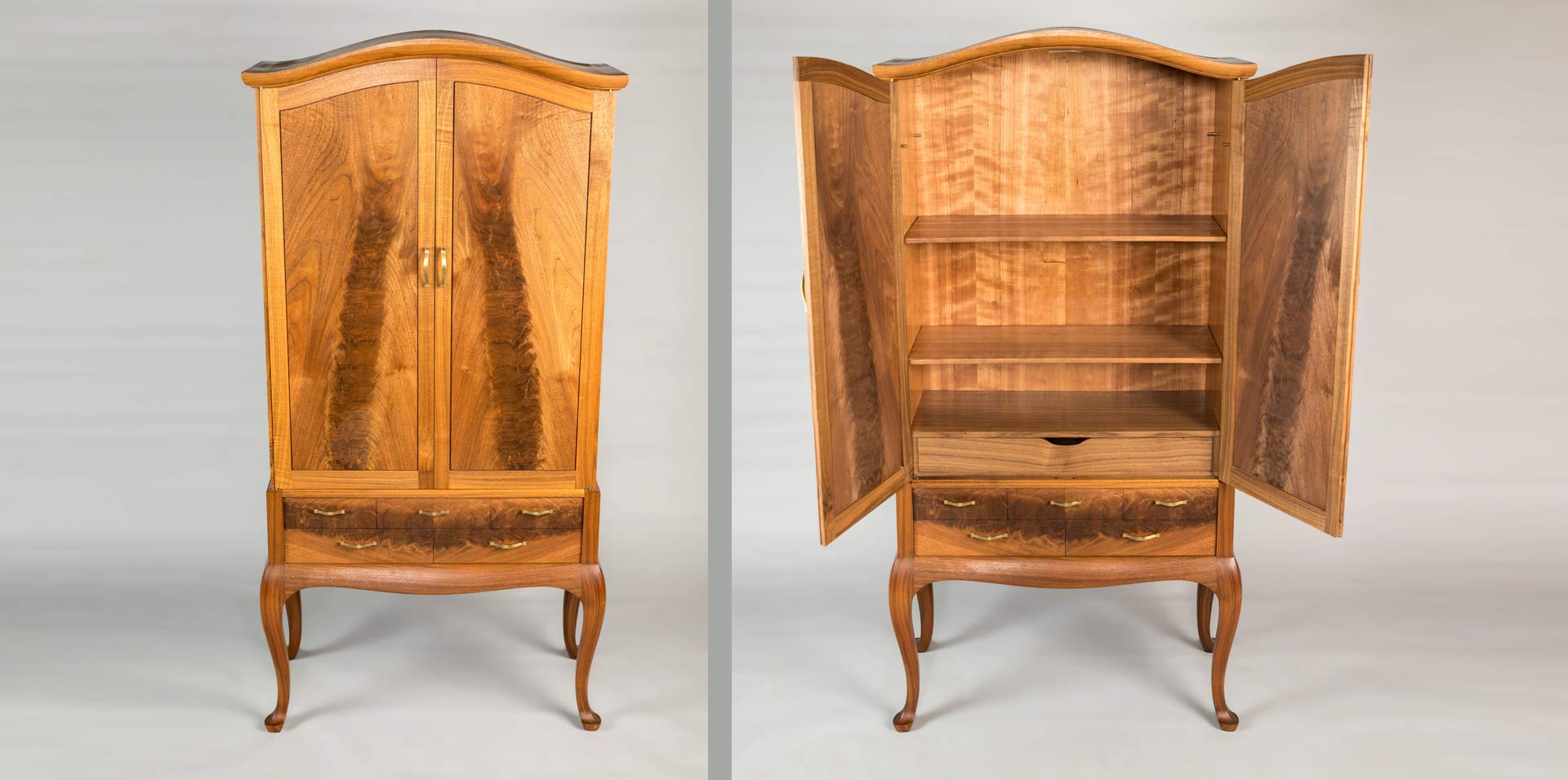 Retro Walnut Armoire - Doug King Design